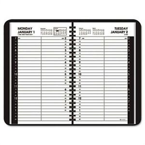 Recycled Daily Appointment Book Black 4 7 8 X 8 2014 X 3