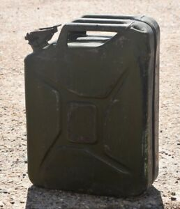 Army Waf 20 Litre Jerry Can Solid Green Fuel Petrol Military 1976 Bsc Cpw