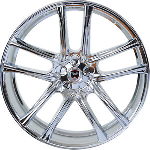 4 Gwg Wheels 22 Inch Chrome Zero Rims Fits Ford Shelby Gt 500 2007 2018
