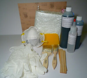 Fiberglass Cloth Repair Kit marine Resin 1qt V e