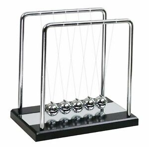 Mylifestyle Newton s Cradle Balance Balls With Wooden Base Physics Science Class