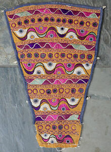 Antique Indian Kutch Silk Embroidery Camel Animal Trapping Textile Hanging 2