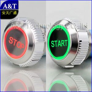 Car Boat Start stop on off Red green 12v Illuminated Push Button Power Switch