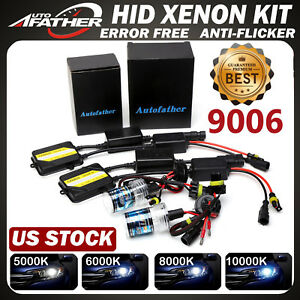 9006 Ac Canbus Hid Xenon Headlight Bulbs Ballasts Kit Error Free Anti Flicker Us