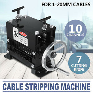 Manual Electric Wire Stripping Machine 1 20mm Copper Metal Cable 10 Channels