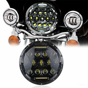 7 75w Led Motorcycle Car Projector Daymaker Headlight For Harley Bad Boy Jeep