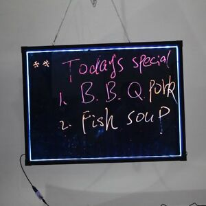 Flashing Illuminated Erasable Neon Light Led Message Menu Writing Sign Board Us