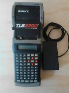 Pre owned Brady Tls2200 Label Thermal Printer With Supplies