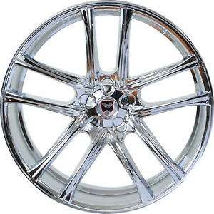 4 Gwg Wheels 22 Inch Chrome Zero Rims Fits Chevy Impala 2000 2013