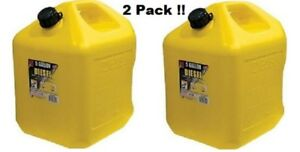 Gas Cans Diesel Can 5 gallon 2 pack Midwest Can Company 8600 Poly 2 Units Yellow