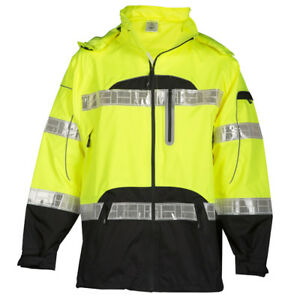 Ml Kishigo Premium Black Series Class 3 Rain Jacket Yellow lime