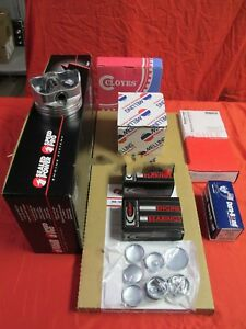 Chevy 302 Engine Kit Z28 Forged Dome Pistons Rings Gaskets Timing 1968 69 No Cam