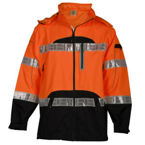 Ml Kishigo Premium Black Series Class 3 Rain Jacket Orange