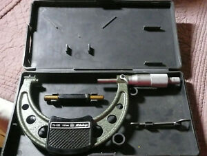 Mitutoyo 75 100mm 01mm No 103 140 B Micrometer With 75mm Standard Bar In Case