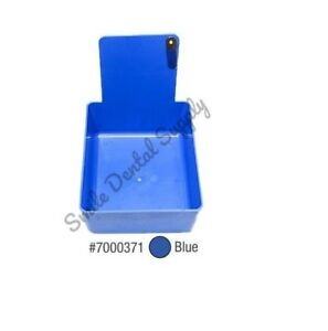 Dental Laboratory Working Case Plastic Pan Tray With Clip Holder 12x Blue Pans