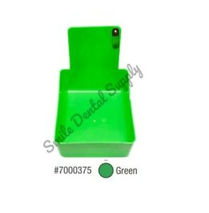 Dental Laboratory Working Case Plastic Pan Tray With Clip Holder 12x Green Pans
