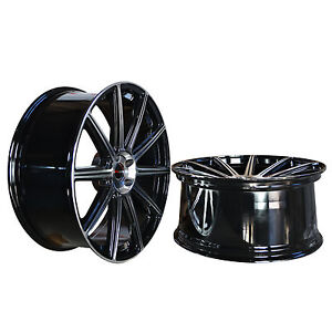 4 Gwg Wheels 20 Inch Staggered Black Mod Rims Fits Jaguar Xkr 2007 2018