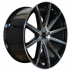 4 Gwg Wheels 22 Inch Black Mod Rims Fits Chevy Impala Ltz 2014 2018