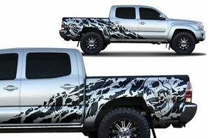 Vinyl Decal Nightmare Wrap For 4d Short Bed Toyota Tacoma Trd Truck 05 15 Black