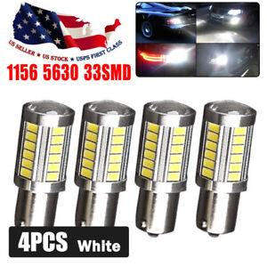 4x Hid White 1156 5630 33smd 6000k High Power Interior Led Light Bulbs 1073 1141