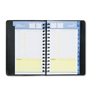 Quicknotes Recycled Daily monthly Appointment Book Black 4 7 8 X 8 2014 X2