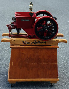 Very Rare Antique 1915 5388 1 2 Hp New Holland Hit Miss Gas Engine On Cart