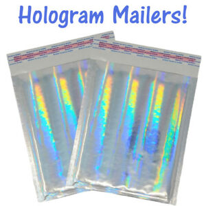 6x10 Hologram Metallic Glamour Holographic Bubble Mailers Padded Shipping Poly 0