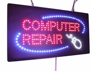 Computer Repair Sign High Quality Led Open Sign Store Sign Business Sign Wind