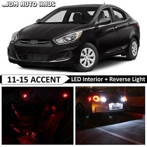 Red Interior Reverse Led Lights Bulb Package Kit Fits Hyundai Accent 2011 2015