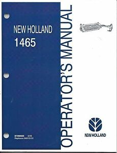 New Holland 1465 Haybine Mower conditioner Operator s Manual 87390600