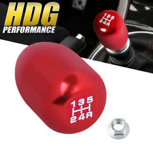 M10x1 5 Type R Style Manual Transmission Red Aluminum White Lettering Shift Knob