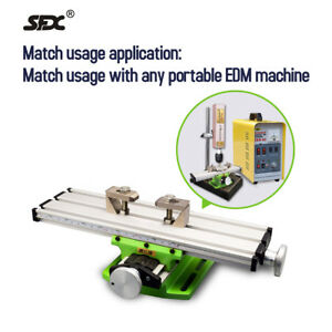 Mini Milling Machine Bench Drill Vise Worktable 2 Axis Fits Portable Edm