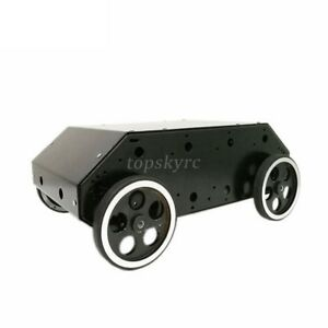 Enclosed 4wd Smart Rc Car With Stainless Steel Frame Metal Wheel Power Motor