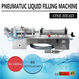 Auto Liquid Filling Machine Filler High Capacity 90 1000ml 40 Bottles minute