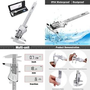 Aickar 6 Inch Electronic Digital Stainless Steel Caliper Tool With Lcd Screen