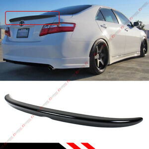 For 2007 2011 Toyota Camry Le Se Xle Painted Glossy Black Rear Trunk Lid Spoiler