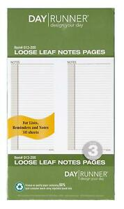 Day Runner Undated Planner Notes Refill 3 75 X 6 75 Inches 013 200