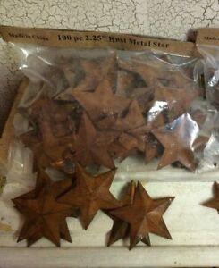 Lot Of 200 Rusty Barn Stars 2 25 Country Craft Weekly Special