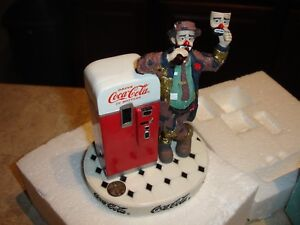 1997 COCA COLA EMMETT KELLY PUT ON A HAPPY FACE CENTURY COLLECTION FIGURINE