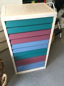 Wood Cabinet With 570 Compartments For Small Parts Or Collections
