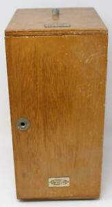 Vintage Wood Olympus Elgeet Optical Microscope H 8 Case Box