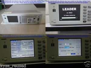 Leader Lg3810 Digital Signal Generator As Photo Sn 7667 Without Calibration