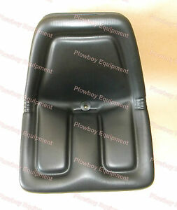 Metal Base Tractor Seat For Kubota Massey Ferguson White Oliver Gehl Tm333bl