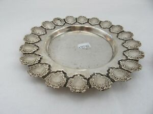 Sterling Silver 925 Round Plate Tray Used 6 5 Inch Diameter
