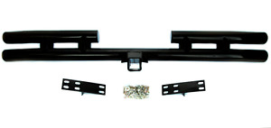 Jeep Wrangler Yj Tj 87 2006 Rear Tubular Tube Bumper With Hitch In Black