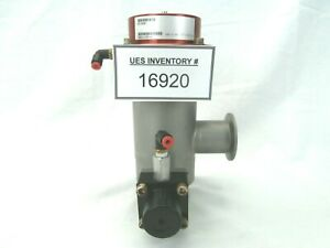 Mks Instruments 93 0501 Ultra High Vacuum Right Angle Two stage Pneumatic Valve