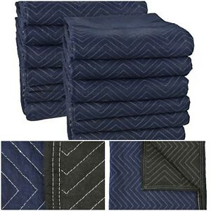 12 Moving Blankets Protection Furniture Stretch Wrap Storage Pads Packing Boxes