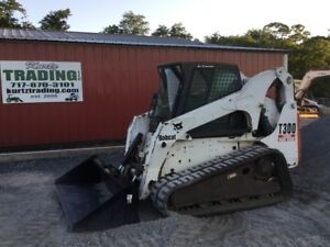 2005 Bobcat T300 Tracked Skid Steer Loader W Cab High Flow