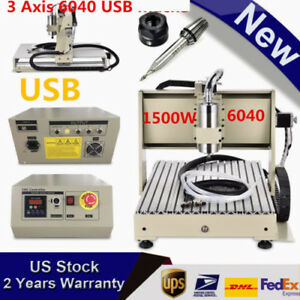 Usb Four 4axis 6040 Cnc Router With 1 5kw Spindle Cnc Engraver mach3 Handwheel