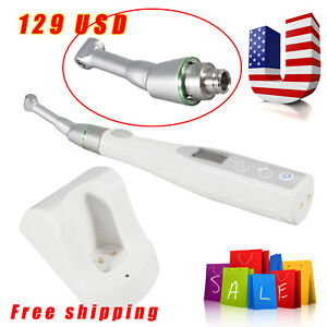 Us Cordless Wireless Dental Endo Motor Reduction 16 1 Contra Handpiece Fit Nsk